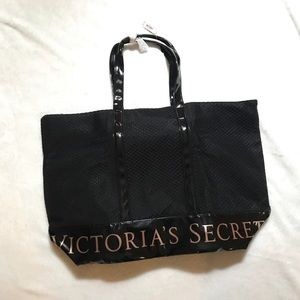 VS Large Zip Top Mesh Tote